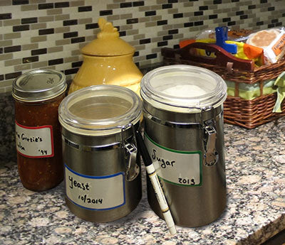 Dry Erase Labels for Kitchen Organization
