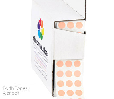 "0.25"" Apricot Dot Stickers"