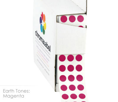 "0.25"" Magenta Dot Stickers"