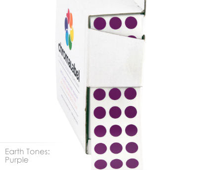 "0.25"" Purple Dot Stickers"