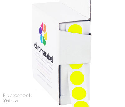 "0.5"" Round Neon Yellow Labels"