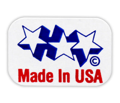 Made in U.S.A. Stickers - 1/2