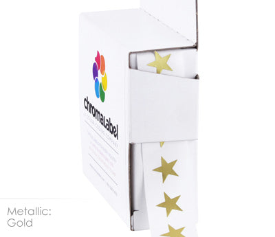 "0.375"" Metallic Gold Star Stickers"
