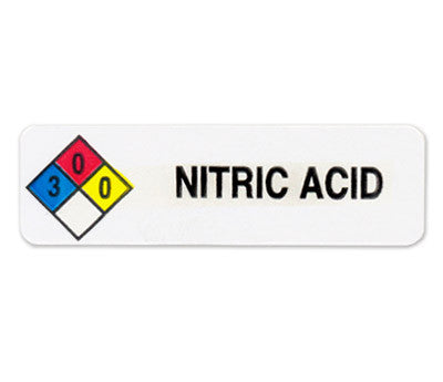 Preprinted NFPA Diamond Chemical Sticker