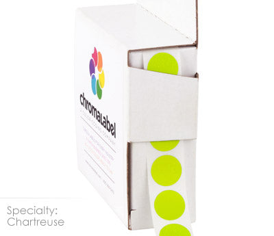"0.5"" Round Chartreuse Labels"