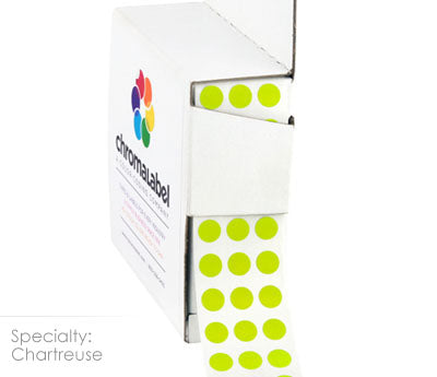 "0.25"" Chartreuse Dot Stickers"