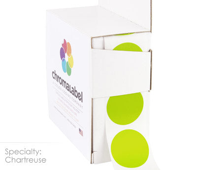 "1"" Chartreuse Circle Labels"
