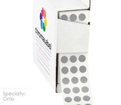 "0.25"" Gray Dot Stickers"