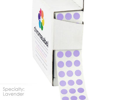 "0.25"" Lavender Dot Stickers"