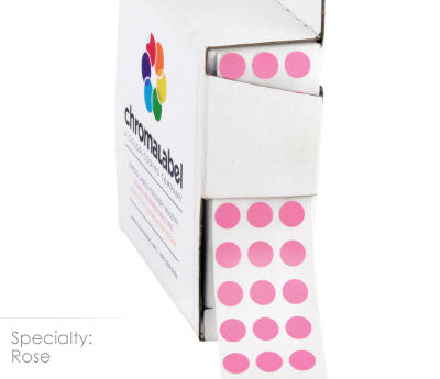 "0.25"" Rose Dot Stickers"