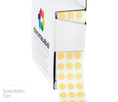 "0.25"" Tan Dot Stickers"