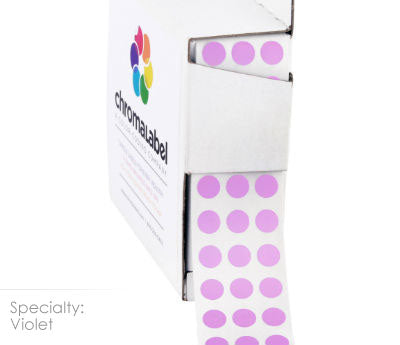 "0.25"" Violet Dot Stickers"