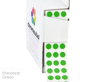 "0.25"" Green Dot Stickers"