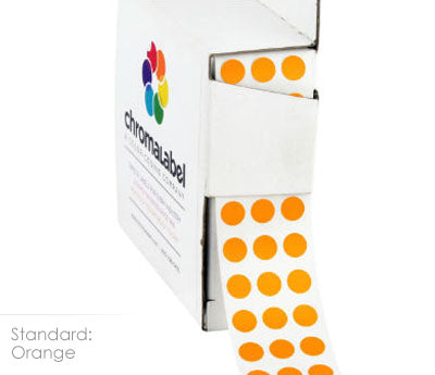 "0.25"" Orange Dot Stickers"