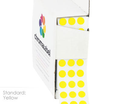 "0.25"" Yellow Dot Stickers"