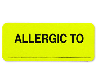Allergic To Labels - 1 x 2-1/4 - 250/Box