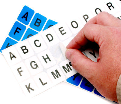 "1"" x 0.75"" Alphabet Stickers"