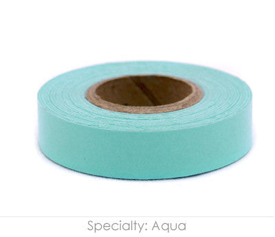"0.5"" Removable Aqua Labeling Tape"