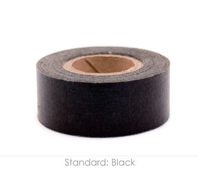 "1"" Removable Black Labeling Tape"