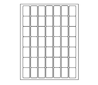 image about Printer Printable named 1 x 1.5 within Blank, Barcode Laser or Inkjet Printer Labels