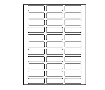 image about Printable Labels Sheets identified as Blank Cover Labels Protected for Laser Inkjet Printers 825/Pack