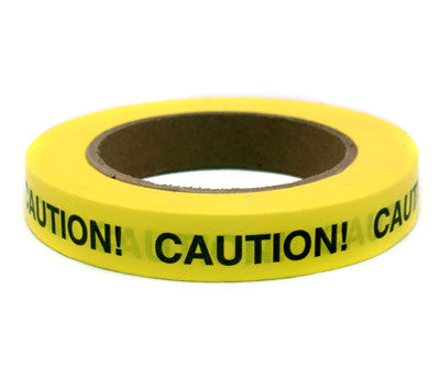 CAUTION! - Imprinted 3/4 Tape