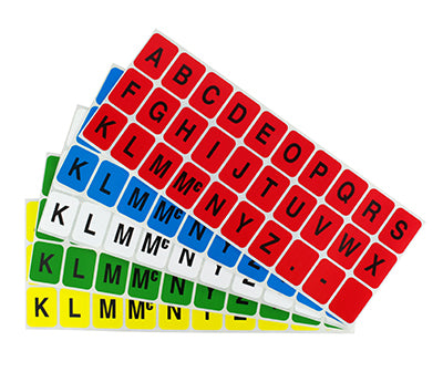 "1"" x 0.75"" Alphabet Rectangle Labels"