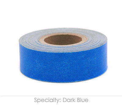"0.75"" Removable Dark Blue Labeling Tape"