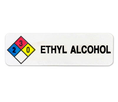 Ethyl Alcohol Hmig Label 34 X 2 12 Removable Adhesive