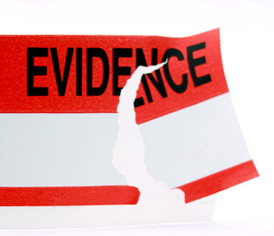 "1.375"" Evidence Tape Breaking Apart"
