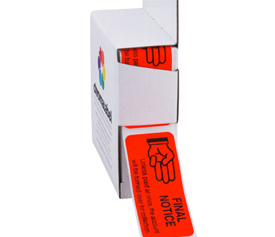 """Past Due Payment"" Collection Labels - 1"" x 2-1/4"" - 250/Box"