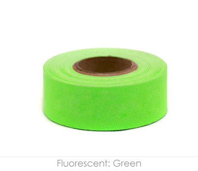 "1"" Removable Neon Green Labeling Tape"