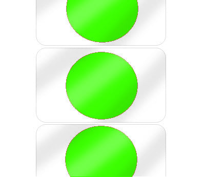 "5/8"" Neon Green Pre-Laminated Dot Labels"