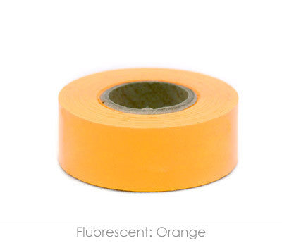 "1"" Removable Neon Orange Labeling Tape"