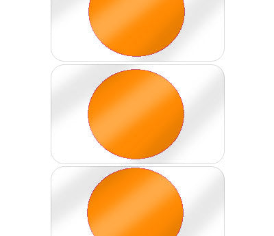 "5/8"" Orange Pre-Laminated Dot Labels"