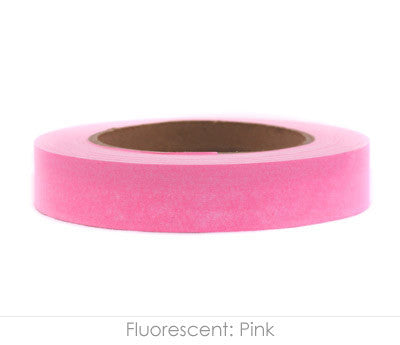 "1"" Removable Neon Pink Labeling Tape"