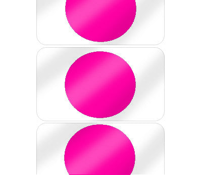 "5/8"" Fluorescent Pink Pre-Laminated Dot Labels"