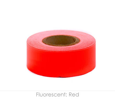 "1"" Removable Neon Red Labeling Tape"