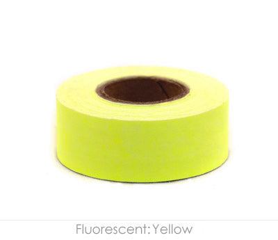 "1"" Removable Neon Yellow Labeling Tape"