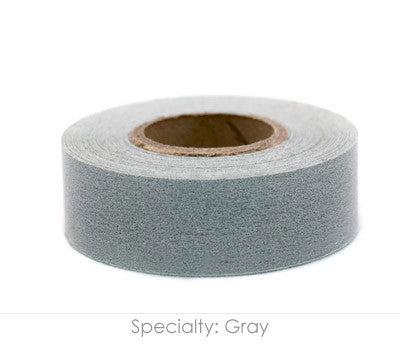 "0.75"" Removable Gray Labeling Tape"