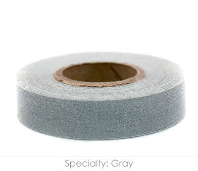 "0.5"" Removable Gray Labeling Tape"