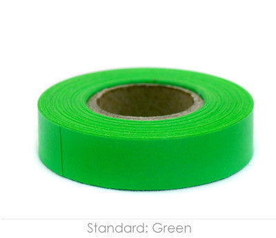 "0.5"" Removable Green Labeling Tape"