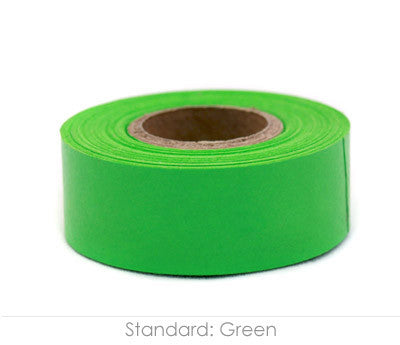 "1"" Removable Green Labeling Tape"
