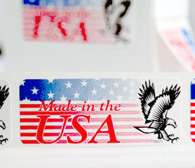 Bald Eagle Made in the USA Labels