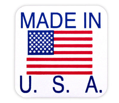 "1"" x 1"" Made in USA Labels"