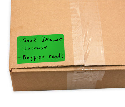 Green Sticker Labeling Moving Box