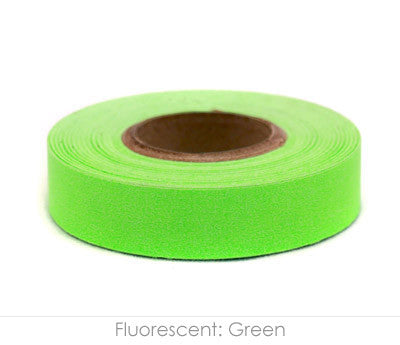"0.5"" Removable Fluorescent Green Labeling Tape"