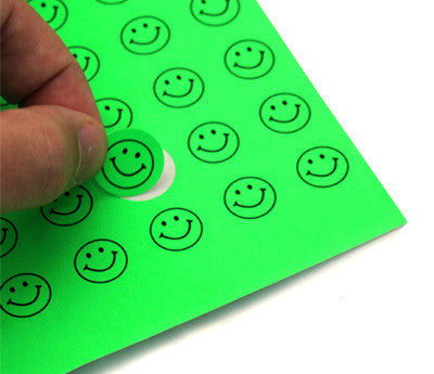 "0.75"" Circle Stickers for Printers - Fluorescent Green"