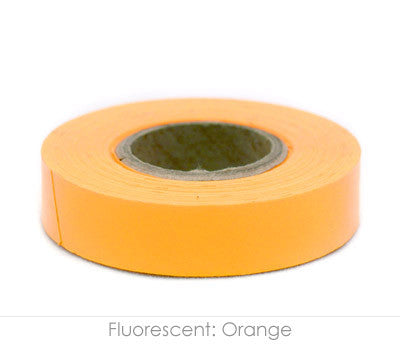 "0.5"" Removable Fluorescent Orange Labeling Tape"