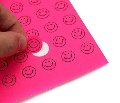 "Printable 0.75"" Fluorescent Pink Dots"